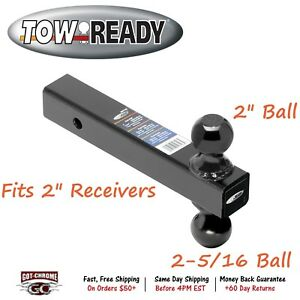 80796 Tow Ready Solid 8 Dual Ball Trailer Hitch 2 Receiver Mount 2