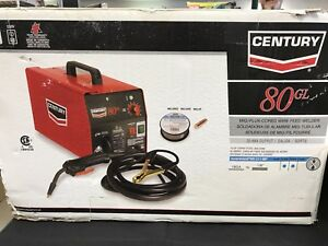 New Century 80gl Flux Cored Wire Feed Welder Free Shipping