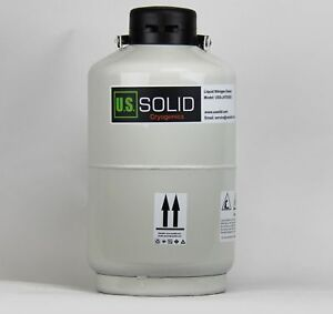 U s solid 10l Cryogenic Container Liquid Nitrogen Ln2 Tank Dewar With Str New