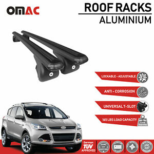Roof Rack Cross Bars Luggage Carrier Black Set Fits Ford Escape 2013 2019