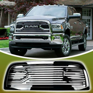 For 2010 2017 Dodge Ram 2500 3500 Big Horn Front Bumper Hood Gloss Black Grille