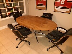 1970 S Florence Knoll 78 Rosewood Dining Conference Table With 4 Chairs
