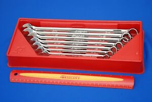 Snap on 7 Piece 12 point Flank Drive Long Combo Wrench Set Oexl707b Ships Free