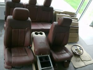 13 Ford F 250 Super Duty King Ranch Leather Seats Door Panels Console Floor Mats