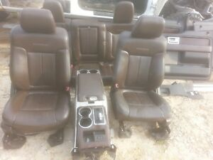 10 Ford F 150 Platinum Edition Brown Leather Seats Center Console Door Panels