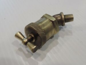 Vintage 1920 s Brass Oiler Grease Fitting Hit And Miss