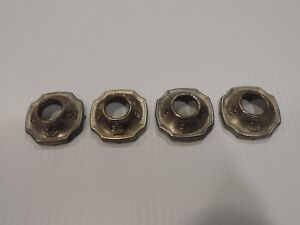 Vintage 1920 s Window Crank Escutcheon Set Of 4 Cadillac Packard Buick