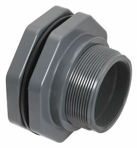Hayward Pvc Bulkhead Tank Fitting 3 Pipe Size Fnpt X Socket Connection Type