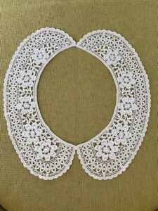 Vintage Belgian White Lace Trim Collar From Brugges Belgium