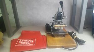 Vintage Kingsley Hot Foil Stamping Machine