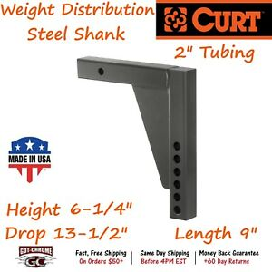 17124 Curt Weight Distribution Shank Provides Adjustable Mount For Wd Hitches