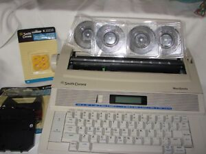 Smith Corona Wordsmith Portable Electronic Display Typewriter Ka13 Extras