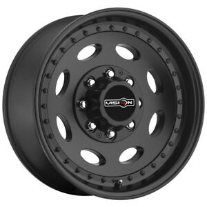 4 19 5 Inch Vision 81 Heavy Hauler 19 5x7 5 8x170 0mm Matte Black Wheels Rims