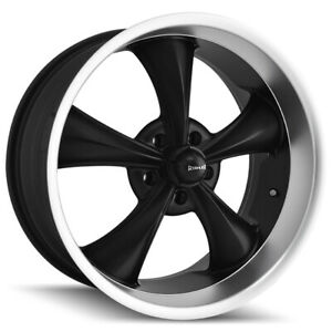 Staggered Ridler 695 Front 18x8 rear 18x9 5 5x4 75 0mm Black Wheels Rims