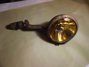 Vintage Auto Radiator Co yellow Fog Light