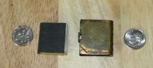 Antique Vintage Miniature Brass Locket Matching New Testament Bible