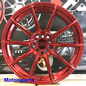 Xxr 567 Wheels Candy Red 18 35 Staggered Rims 5x114 3 Fits 08 Nissan 350z Nismo