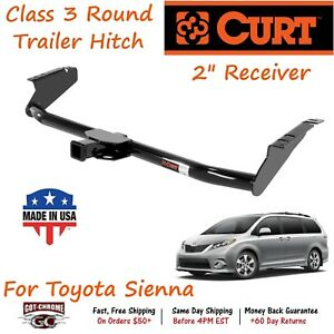 13105 Curt Class 3 Round Trailer Hitch With 2 Receiver Tube For Toyota Sienna