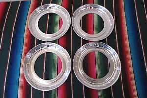 Nos 14 Beauty Trim Rings Hubcaps 1950 S 1960 S Chevy Ford Buick Accessory