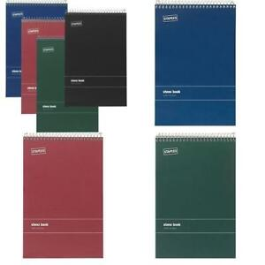 Staples Green Paper Steno Pads Gregg Ruled 6 X 9 12 pack