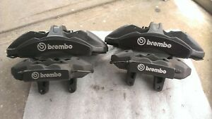 Oem Ford Mustang Shelby Gt350 Brembo Brake Calipers Front Rear Set Black