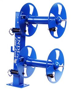 10 Welding Lead Cable Reel Fixed Base Heavy Duty Blue