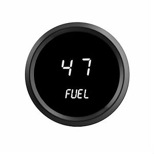 2 1 16 Universal Digital Fuel Gauge White Leds Black Bezel Lifetime Warranty