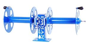 12 Welding Lead Cable Reel Side by side Heavy Duty Blue