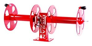 12 Welding Lead Cable Reel Side by side Heavy Duty Red