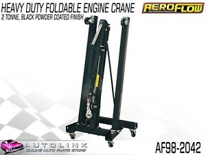 Aeroflow Af98 2042 2 Ton Foldable Engine Hoist Crane Powder Coated Black