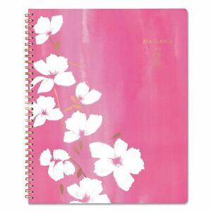 Cambridge Sorbet Weekly monthly Planner 8 1 2 X 11 Pink rose Gold white 2019