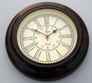 Wooden Smith London Ship S Vintage Office Home Decorative Wall Clock Working 10