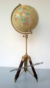Desktop 12 Globe World Geography Earth Table Decor W Tripod Stand X Mas Gift