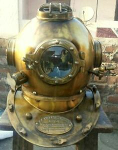 Antique U S Navy Diver Vintage Diving Helmet Mark V Deep Water Decor Style Gift