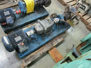 Viking Pump Kk4224b 10 5hp Motor 100gpm 200psi W Nord Sk 42 W Reducer Used