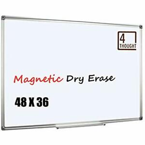 48 X 36 Inches Magnetic Dry Erase Board Whiteboard Wall Mounted Aluminium Frame