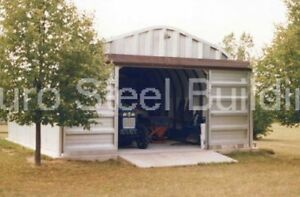 Durospan Steel 25x50x13 Metal Garage Home Storage Tool Shed Building Kit Direct