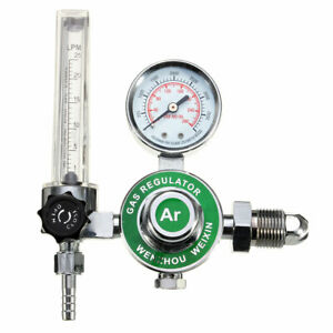 Argon Co2 Gas Mig Tig Flow Meter Welding Weld Regulators Gauge Welder Cga580