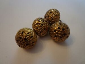 Antique Victorian Round Filigree Button Lot