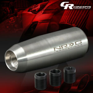 Nrg 3 5 Universal Weighted Manual Transmission Gear Stick Shift Knob Silver