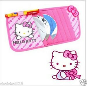Hello Kitty Car Sun Visor Cd Dvd Storage Organiser Holder Kk289