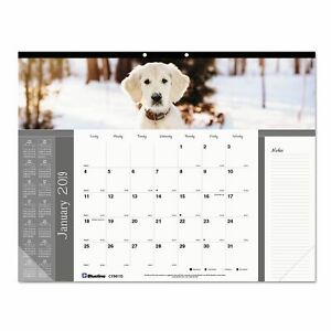 Brownline Pets Collection Monthly Desk Pad 22 X 17 Puppies 2019