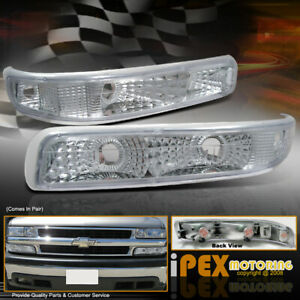 1999 2002 Chevy Silverado 1500 2500 Front Bumper Turn Signal Parking Lights Lamp