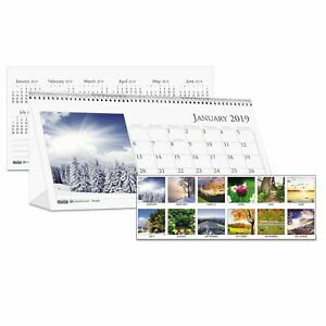 House Of Doolittle Recycled Scenic Photos Desk Tent Monthly Calendar 8 1 2 X 4