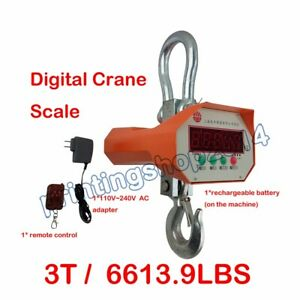 Heavy Duty 3000 Kg Digital Crane Scale Industrial Hanging Scale 110v