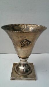 7 Vintage Silver Plated Chalice Cup Vase