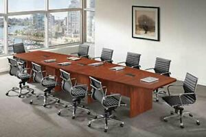 12 Ft Expandable Conference Table With Grommets Free Shipping