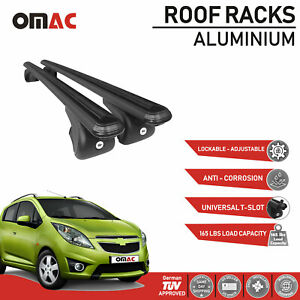 Chevrolet Spark Sport Roof Racks Cross Bars Rails Roof Bar Black 2013 2015
