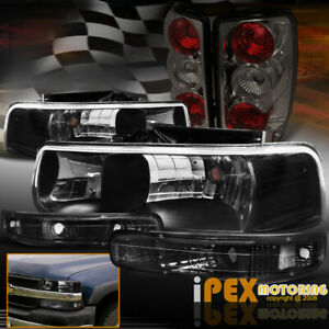 2000 2006 Chevy Suburban Tahoe Black Headlights Signals Smoke Tail Lights