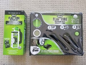 Slime 50123 Flat Tire Repair Kit Digital And Sealant Refill 10179 Fast Shipping